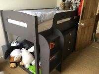 Boys cabin bed & chest of drawers