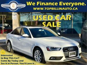 2013 Audi A4 2.0T Quattro, Only 40K km, SUNROOF