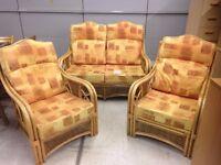 3 Piece Wicker Seating Set