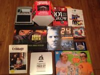 Selection of games and books