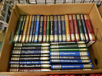 Collection of 36 great Writers Library Illustrated Leather Hardback Books. Immaculate.