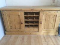 Beautiful handmade rustic/farmhouse style solid wood sideboard