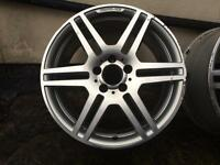 Set of 18 Inch original Mercedes AMG sport alloy wheels