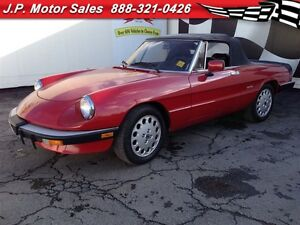 1988 Alfa Romeo Spider Graduate, Manual, Leather, Convertible