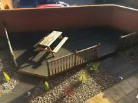 Garden furniture decking