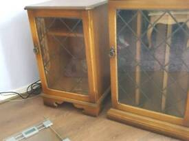 Solid wood good condition CD steoro cabinets
