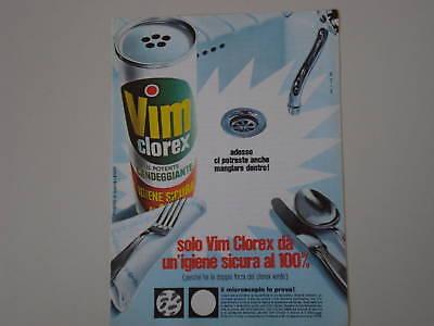 advertising Pubblicità 1970 VIM CLOREX