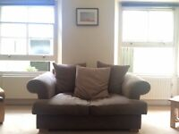 2 seater sofa. £25 ONO. 170cm(l) x 105cm(d). Arms come off so easy to get in/out of flats in B'ton