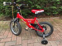 """Boys Raleigh Mini Bike 14"""" Wheels"""