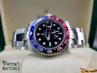 Rolex GMT-Master ii Pepsi Edition. Includes Rolex Box and Paperwork. Delivery or Collection.