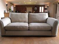 Large 3 Seater Natural Fabric Designer Sofa from the Spirit Barnaby Range
