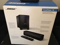 Bose CineMate 15 Home Cinema Sounder System (new) Manufacturer warranty: 1 year