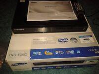 Used Samsung DVD E360 DVD player for sale in original box.