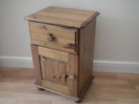 Solid Pine Bedside Table (Matching Dressing Table, Stool and Mirror sold separately)