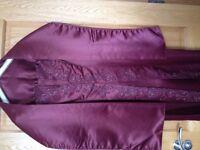 Purple formal dress with matching shawl