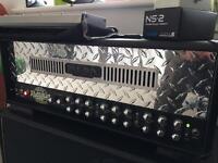 Mesa Dual Rectifier amp head, foot switch & flight case