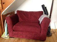 Large dark red armchair