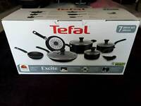 Tefal Excite 7 piece frying pan saucepan set BRAND NEW