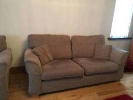 3 seater seatee, large armchair and foot stool