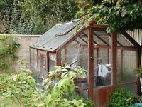 CLASSIC Cedar Wood frame green house made by F.Prattens.Co.Ltd