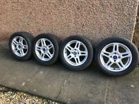 Set off genuine 4x108 Ford Fiesta Zetec alloy wheels with tyres