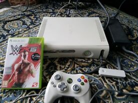Original Xbox 360 Console and controller one game and WiFi dongle