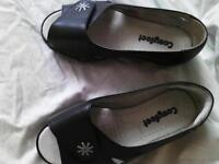 Cosyfeet navy, open toe shoes, size4
