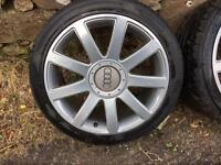 Audi rs4 alloys 5x112 a4 a6 vw Passat Jetta Skoda seat wheels delivery