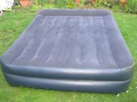 Intex Raised Queen Size Airbed Air Bed with Built-in Electric Pump