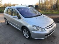Peugeot 307 SW SE Estate. Only 70k miles and new clutch just fitted. Incredible value for money.