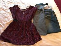 Size 16 maternity bundle - top, leggings and jeans.