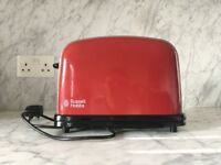 Russell Hobbs Red 2 Slice Toaster. Used. Good Condition. Fully Working.