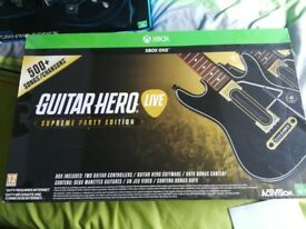 G920+shifter for Xbox one and Guitar hero live twin guitar set.