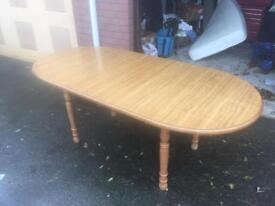 Table and chairs extending