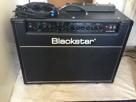 Blackstar HT60 stage tube amplifier (needs new tubes) with pedal and amp cover