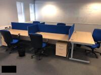 Office desk partition