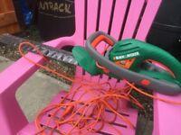 Electric Black & Decker Hedge Trimmer