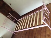 Small pink bed