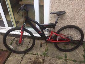 "Muddyfox Vortex bicycle TO REPAIR or for spares 26"" wheels"