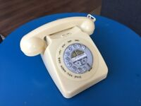 Cream Mayfair Retro Style Two Piece Corded Telephone - Vintage, Industrial Style
