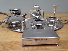 Silver Plated silver wedding presents 1969