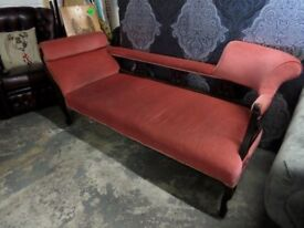 Stunning Victorian Chaise Lounge Double Ended Day Bed - UK Delivery