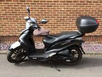 Sym Symphony ST 125 - 2016. 21 Month's Warranty - Great Condition. Inc. Top Box, Chain Lock & Gloves