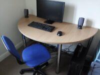 Large Semi-Circle Computer Desk
