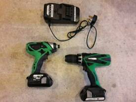 Hitachi Combi Drill and Impact Driver