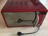17 Litre Heritage Red Digital Microwave with Chrome + Manual