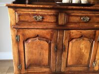 Oak sideboard / dresser with detachable top unit