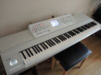 Korg M3 88 key workstation fully expanded - radias, firewire and ram boards fitted - and flightcase