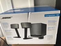 Bose Companion 50 Multimedia Speaker System [BLACK - BRAND NEW]