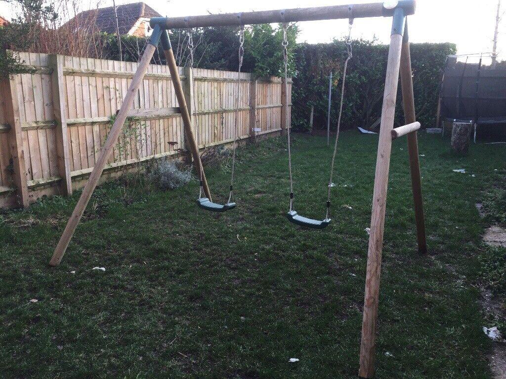 Plum Wooden Swing Set In Leamington Spa Warwickshire Gumtree